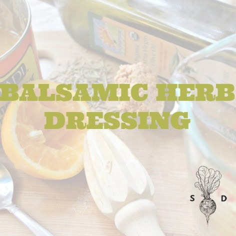 Balsamic Herb Dressing