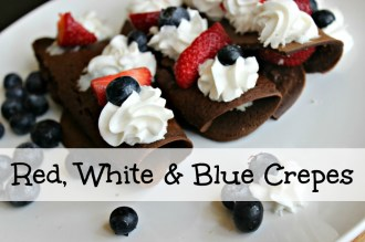 Red White and Blue Crepes