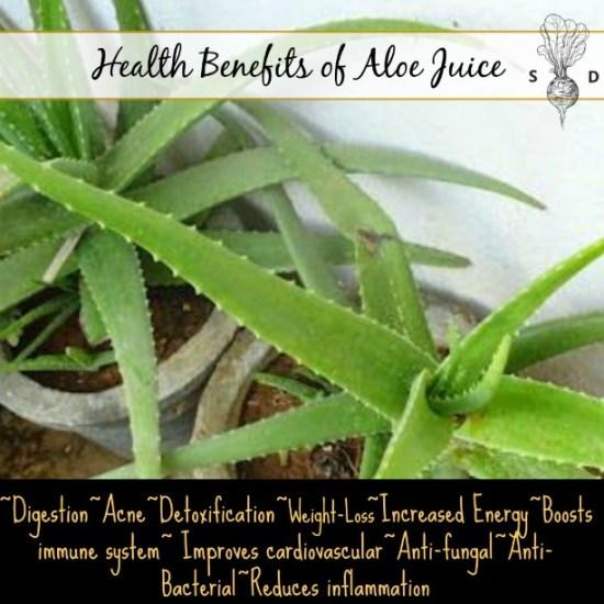 health benefits aloe juice