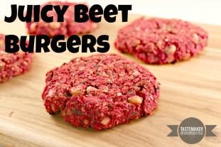 Juicy Beet Burgers