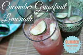 Cucumber Grapefruit Lemonade