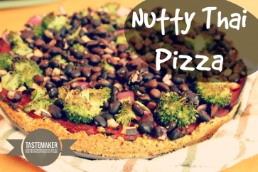 Nutty Thai Pizza