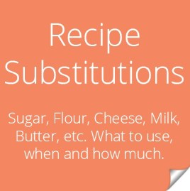 Recipe Substitutions