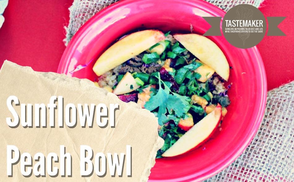 Sunflower Peach Bowl