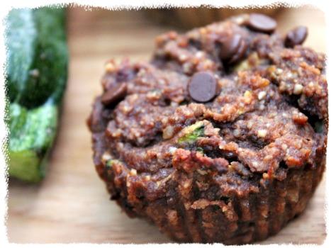 grain free zucchini muffin snack