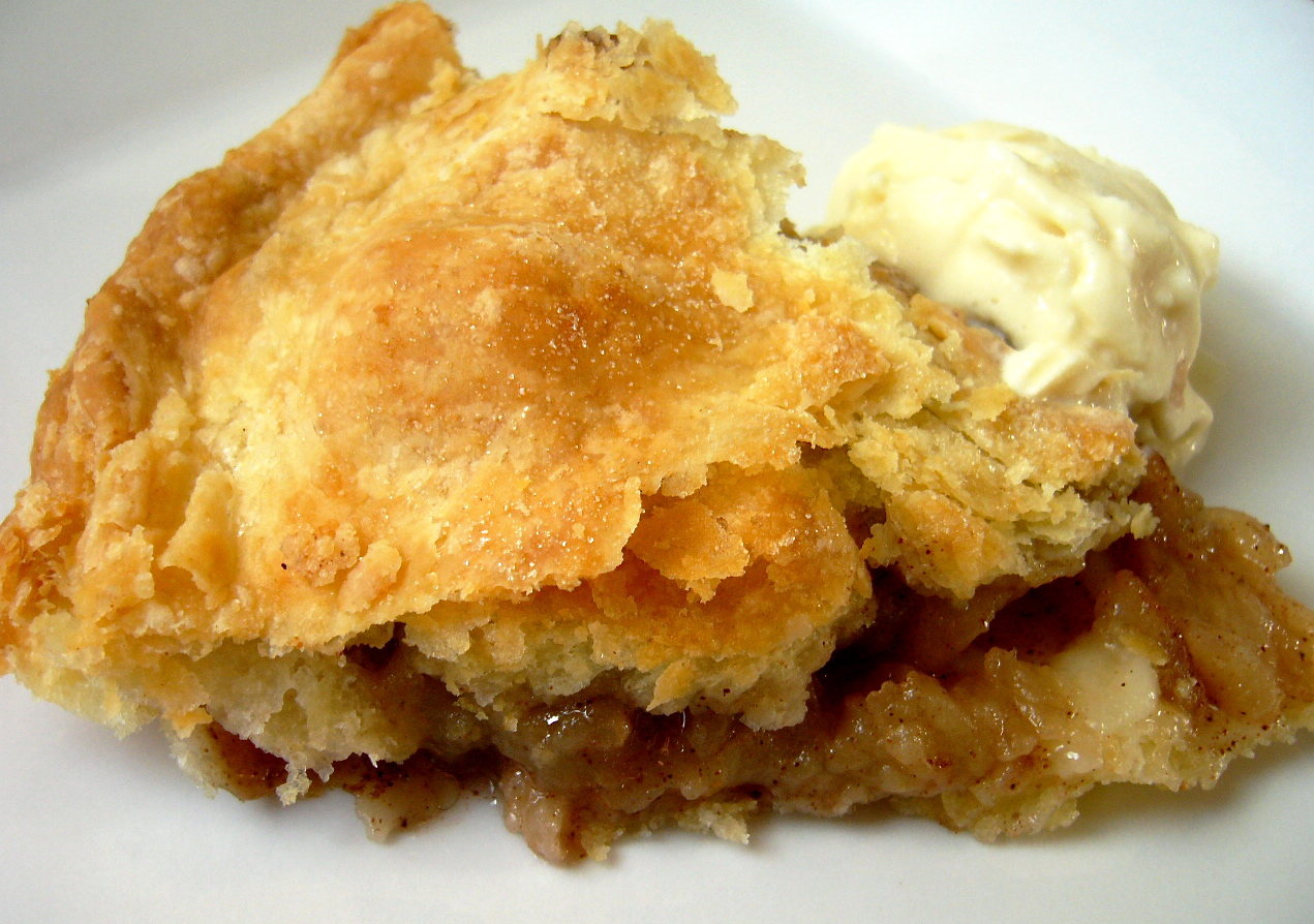 Apple pie with flaky homemade pastry and vanilla ice cream - perfect for an Inauguration Celebration!