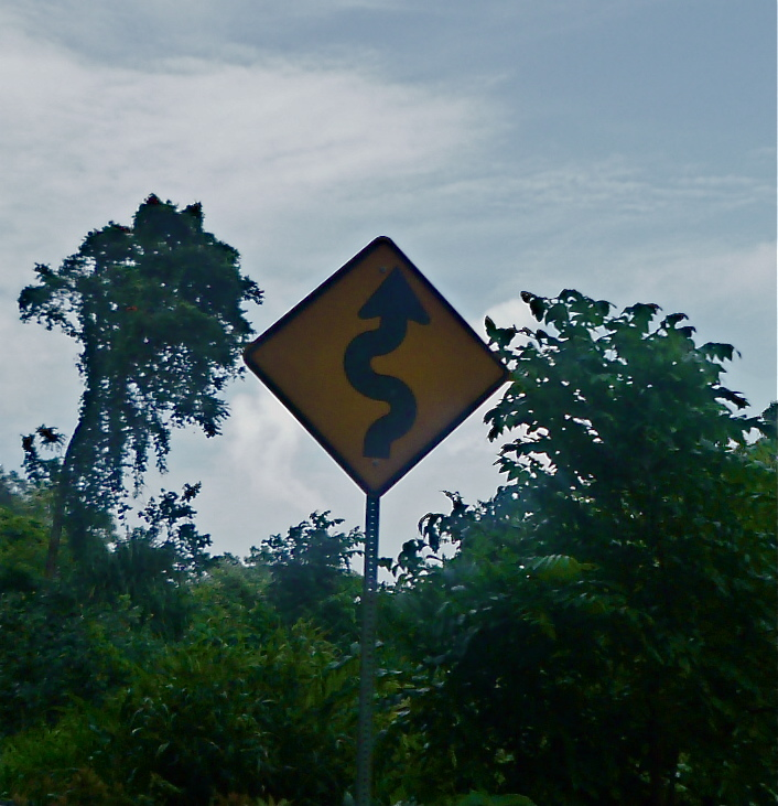 Heed the sign: there are a few curves on the Road to Hana