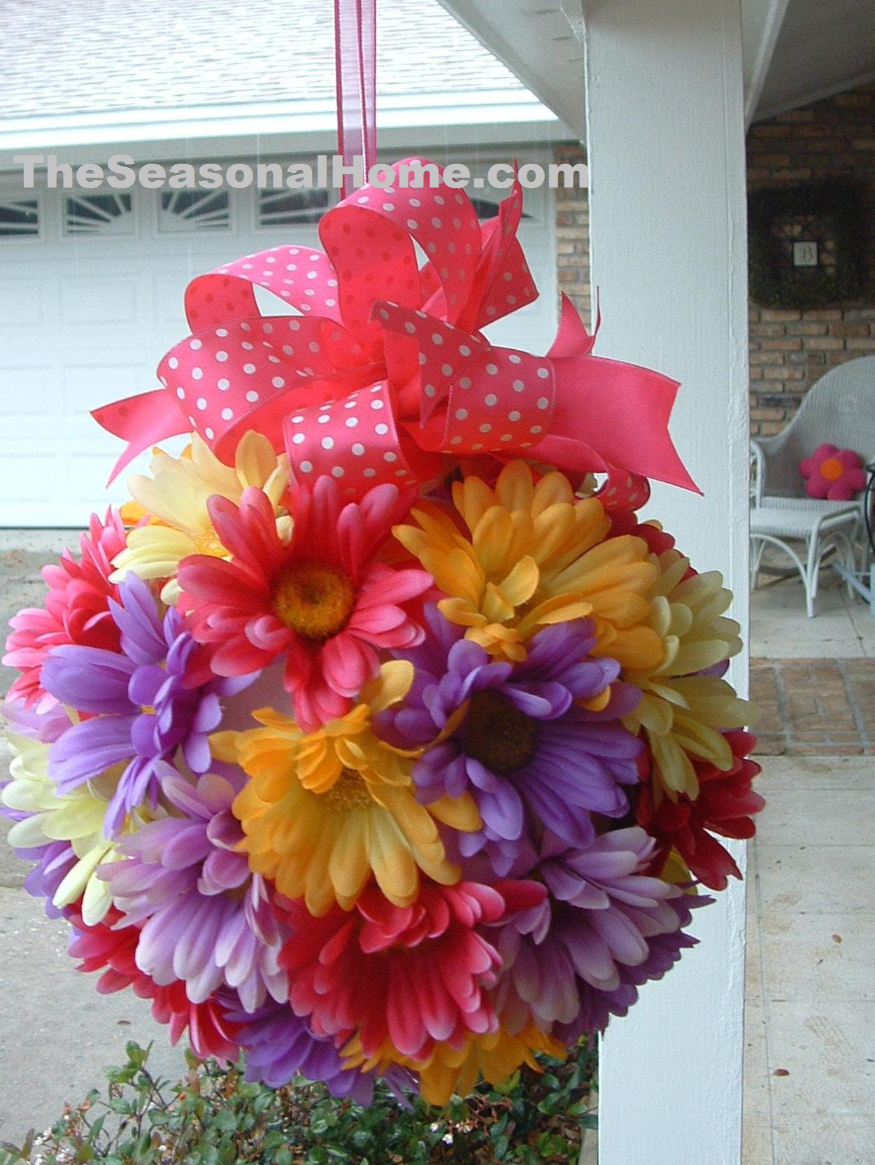 Spring Burst O Flowers Ball For Hanging 171 The Seasonal
