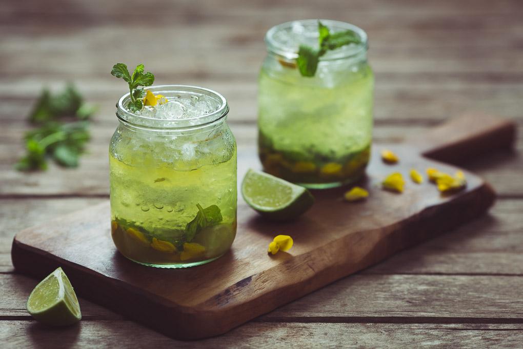 Gorse Flower and Raw Honey Mojito -- Enjoy cold   https://theseasonaltable.co.uk/drinks/gorse-flower-and-raw-honey-mojito/