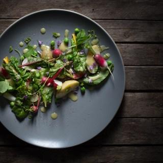 A Spring Salad -- serve fresh -- Seasonal Food | https://theseasonaltable.co.uk/savoury/a-spring-salad/