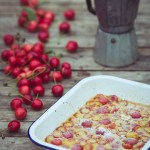 Cherry, Vanilla and Cinnamon Clafoutis -- Serve with coffee -- Seasonal Food | https://theseasonaltable.co.uk/sweet/cherry-vanilla-cinnamon-clafoutis/