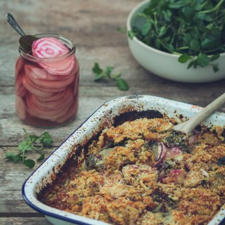 Beetroot Leaf and Potato Gratin