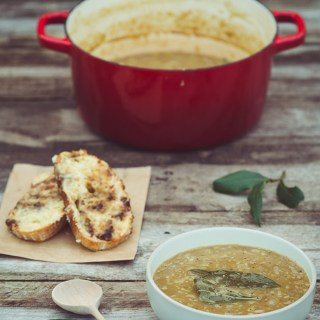 Onion, Leek and Bay Soup -- https://theseasonaltable.co.uk/savoury/onion-leek-bay-soup/