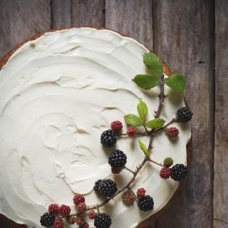 Wild Blackberry and Rosewater Cake -- Seasonal food UK | https://theseasonaltable.co.uk/sweet/wild-blackberry-and-rosewater-cake/