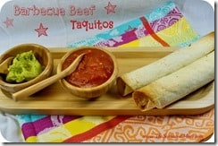 Barbecue Beef Taquitos
