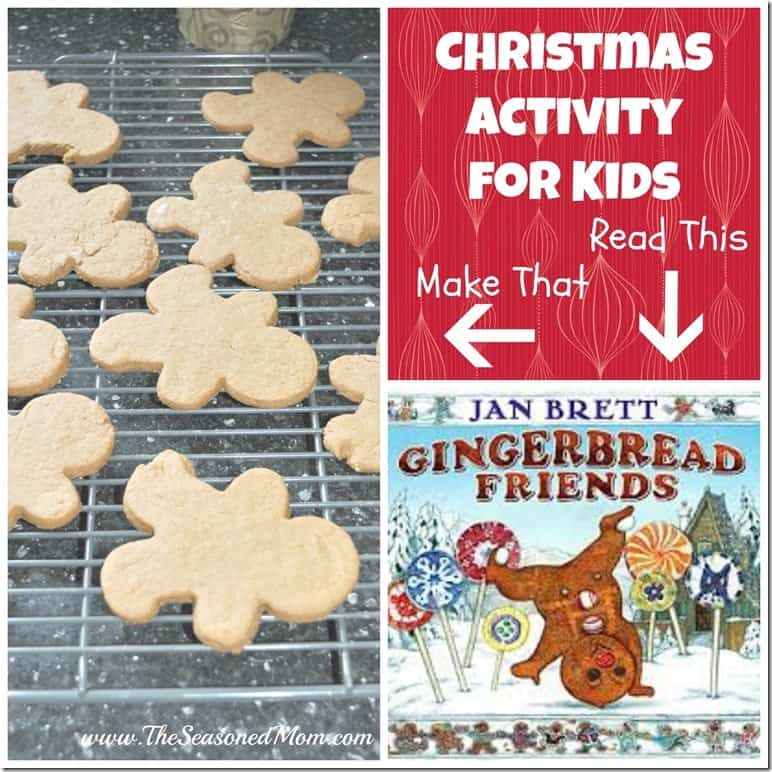 Christmas Activity for Kids Making Gingerbread Cookies