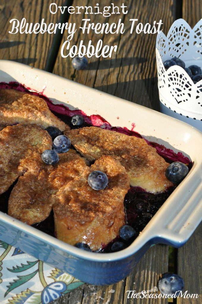 Overnight Blueberry French Toast Cobbler