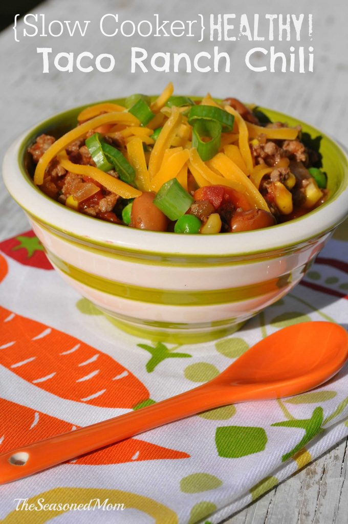 Slow Cooker Healthy Taco Ranch Chili