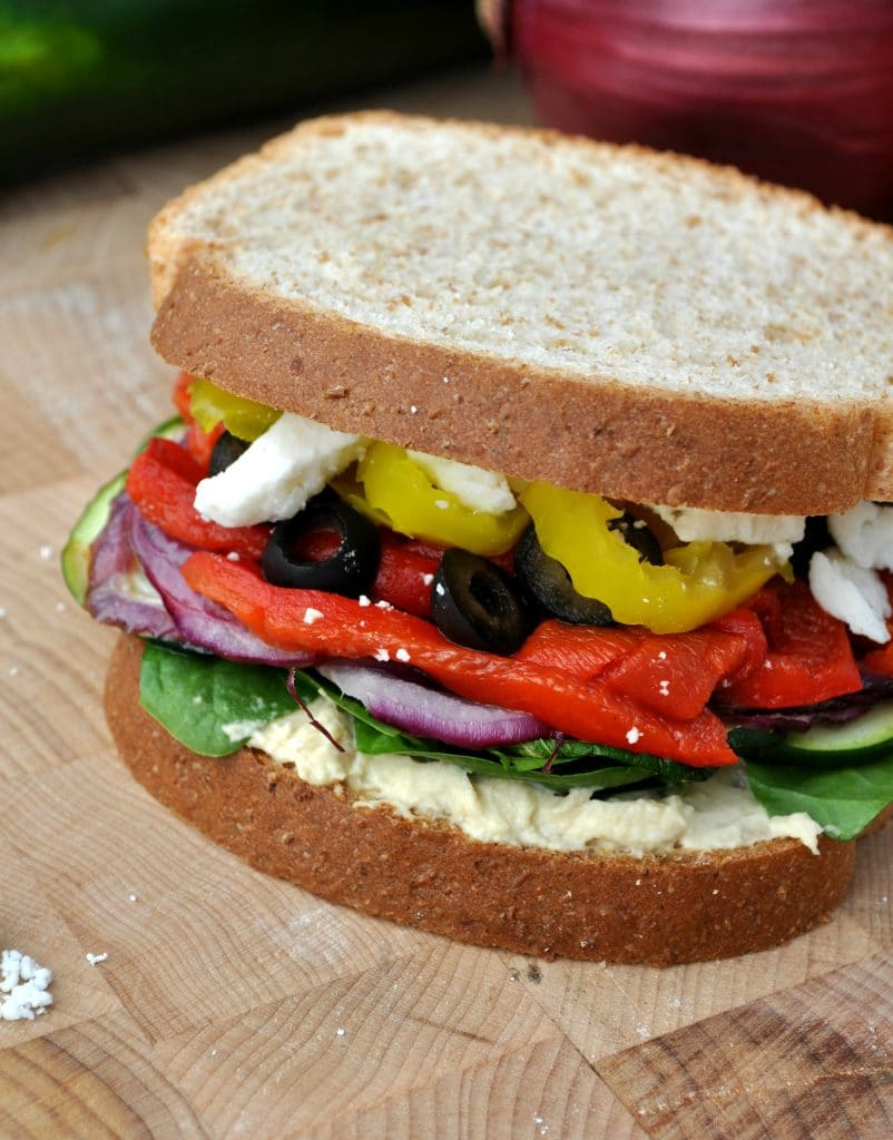 Skinny Mediterranean Roasted Vegetable Sandwich 5