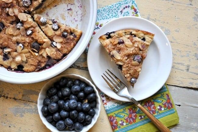 Lightened Up Blueberry Coffee Cake 7