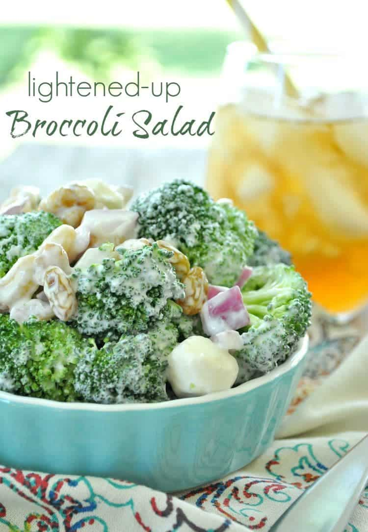 Lightened Up Broccoli Salad TEXT
