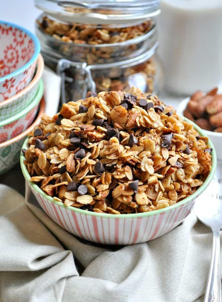 Slow Cooker Salted Caramel Almond Granola 5