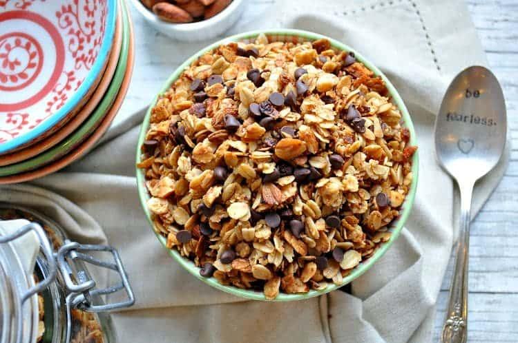 Slow Cooker Salted Caramel Almond Granola 9