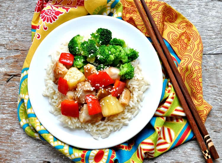 Slow Cooker Sweet and Sour Chicken 4