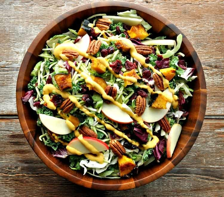 Fall Harvest Salad with Pumpkin Goddess Dressing 9
