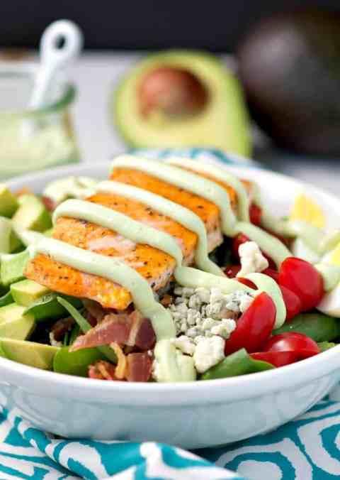 Salmon Cobb Salad with Light Avocado Dressing 6