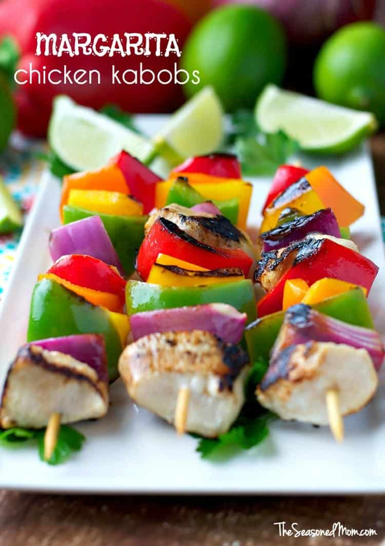 One of our favorite summer meals, these Margarita Chicken Kabobs are an easy and healthy dinner to throw on the grill!