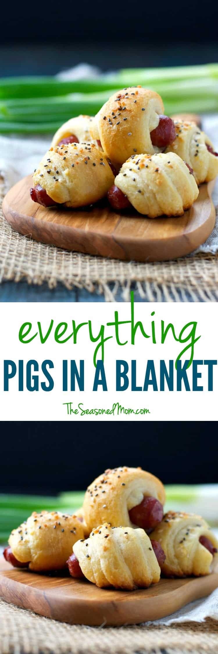 These Everything Pigs in a Blanket are perfect easy appetizers for your next party!