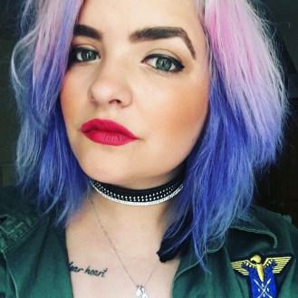 Purple Hair Using Hair Chalk - Seasonsofapril