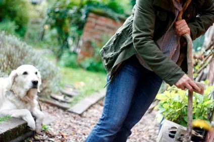 making a walking stick Photo by Paul Tupman