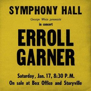 Erroll Garner Symphony Hall