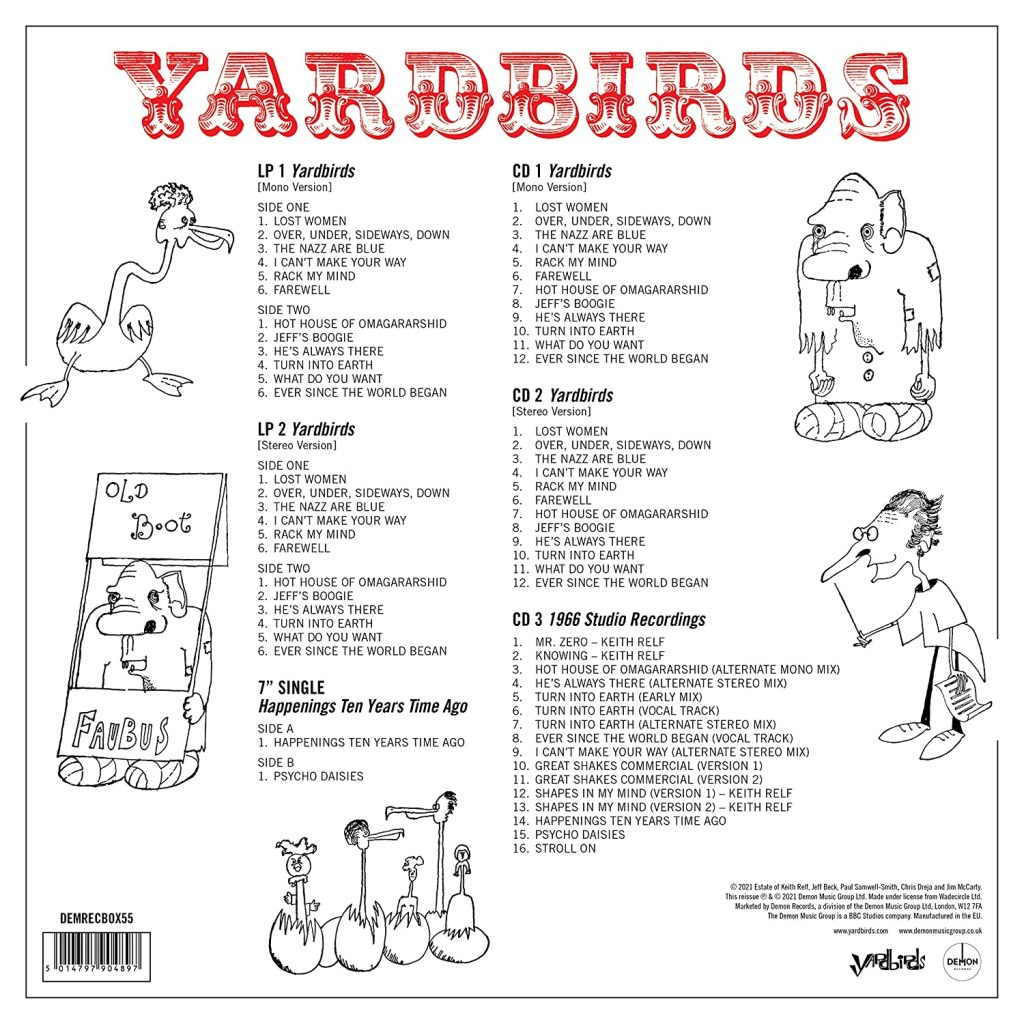 Yardbirds Roger the Engineer Track Listing
