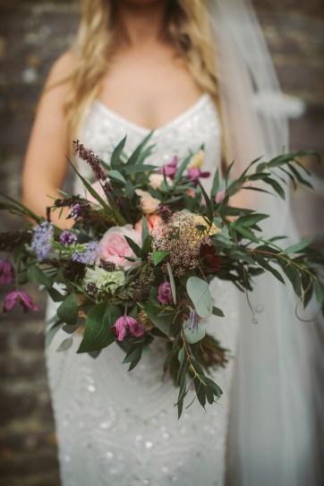 Wild and Natural Summer Wedding Bouquet