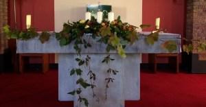 Autumnal Altar. Muckross Church.
