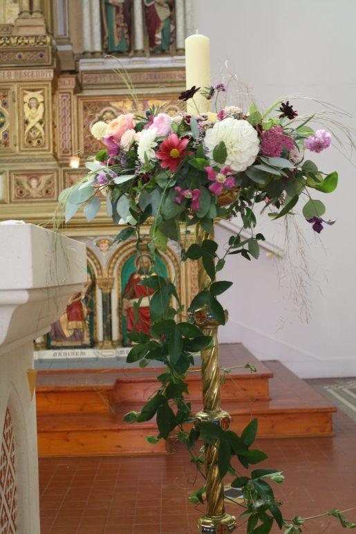 Tall Candlestick Arrangement
