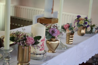 Cullen Church wedding altar flowers