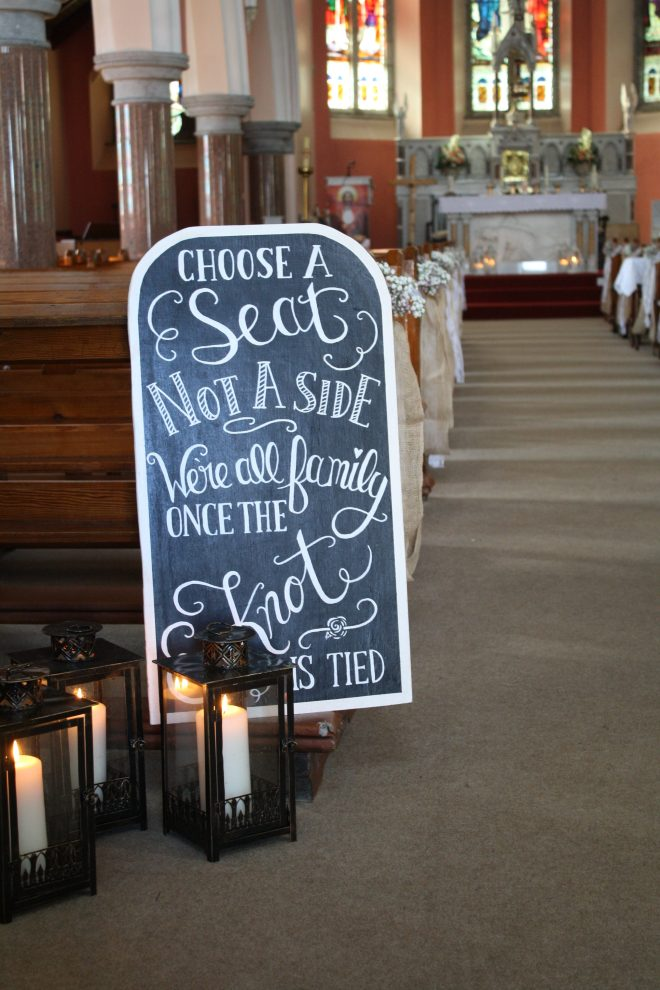 Pick A Seat Sign For Hire Wedding