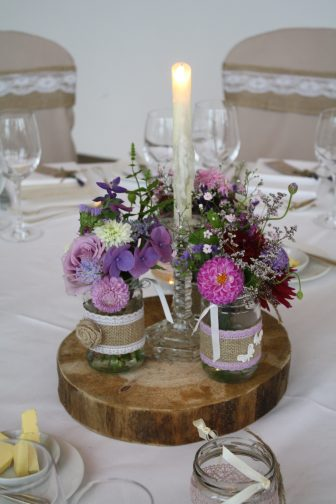 Jam Jar Table Centre Castlemartyr