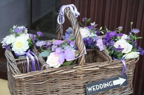 Vintage Medicine Basket Flowers