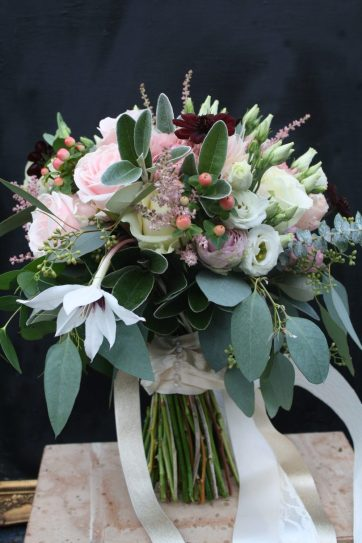 Blush and Cream Wedding Bouquet