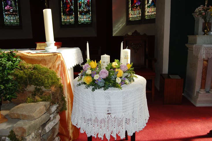 Small Easter Unity Candle Arrangement