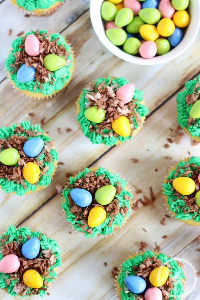 Birds Egg Nest Cupcakes