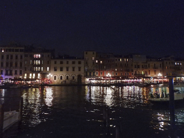 Venice, Grand Canal by night