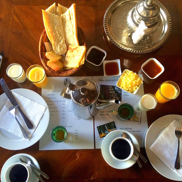 Moroccan breakfast in Essaouira
