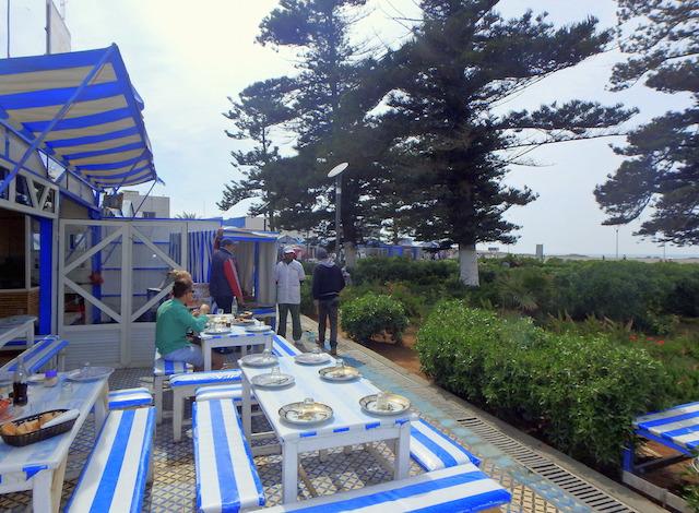 Fish restaurants, Essaouira port