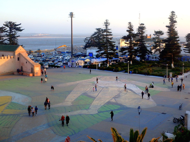 giant fresco from Italian artist Giacomo Bufarini in Moulay Hassan square in Essaouira